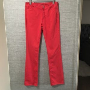Versace Red Straight Leg Jeans Couture Size 30/44